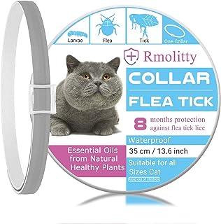 Rmolitty Collar Antiparasitario Gatos, Impermeable Tratamiento Natural de pulgas para Grande Mediano Pequeño Gatos, 8 Meses 35cm (35cm)