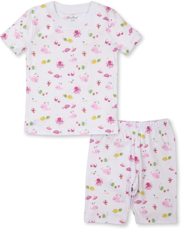 Kissy Kissy Baby-Girls Infant Ocean Oasis Print Short Pajamas Set