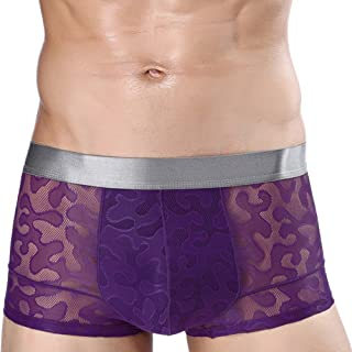 Zhuhaitf Comfortable Elasticity Sexy Boxer Brief Underwear for Mens Ice silk Panties Underpants,Moisture wicking