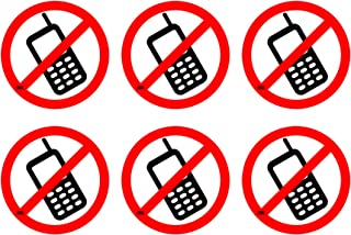 No Cell Phones Sticker Sign 3