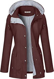 BBX Lephsnt Rain Coats for Women Lightweight Rain Jacket Active Outdoor Trench Coat