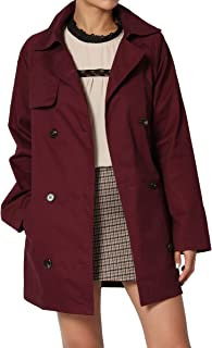 Belted Classic Double Breasted Short Trench Coat Anorak Utility Jacket