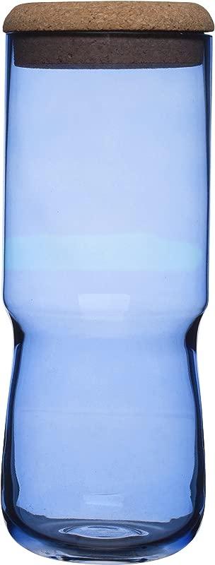 SEAglasbruk Aqua Jar With Cork Lid Large Blue