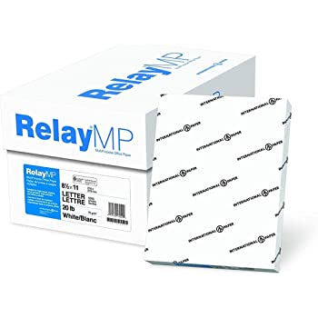 Relay MP, Multipurpose Copy Paper, 20lb, 8.5 x 11, 92 Bright - 10 Ream Carton / 5,000 Sheets (013020C)