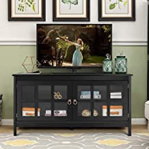 Tangkula TV Stand Modern Wood Large Wide Entertainment Center for TV up to 50