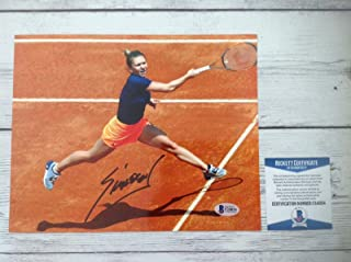 Autographed Simona Halep Photo - 8x10 Beckett BAS COA a - Beckett Authentication - Autographed Tennis Photos