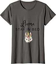 Llama Stay In Bed T-Shirt Women's and Youth Trinci Designs