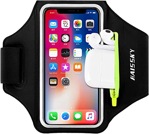 Running Armband with Airpods Bag Cell Phone Armband for iPhone 12 Pro/11 Pro Max/11/XR/XS/X/8, Galaxy S9/S8 Water Res...
