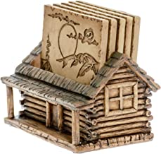 Cabin Log Coaster Set for Drinks – Modern Home Decor Accents Hunting Decor for Man..