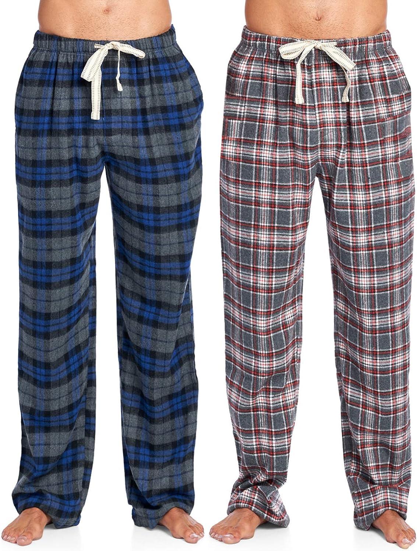 Ashford & Brooks Mens Super Soft Flannel Plaid Pajama Sleep Pants