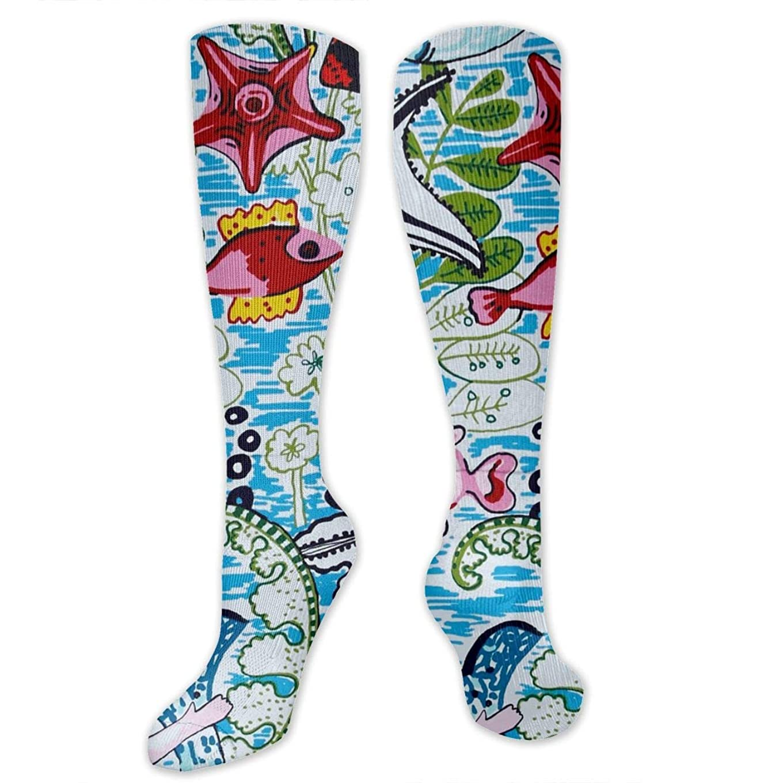 野心的蛾物理学者靴下,ストッキング,野生のジョーカー,実際,秋の本質,冬必須,サマーウェア&RBXAA Mermaids Fish Socks Women's Winter Cotton Long Tube Socks Knee High Graduated Compression Socks
