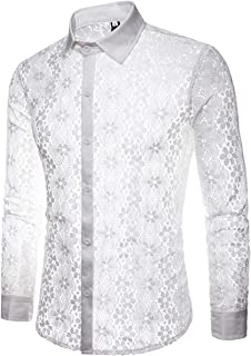 mens white lace shirt