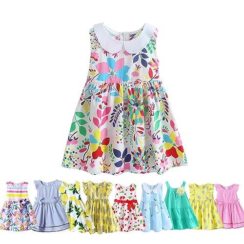 61e89891f394 Abalaco Girls Kids 100% Cotton Summer Printed Sundress Floral Casual  Toddler Tutu Dress