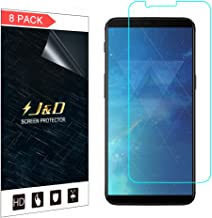 J&D Compatible for 8-Pack OnePlus 5T Screen Protector, [Not Full Coverage] Premium HD Clear Film Shield Screen Protector for OnePlus 5T Crystal Clear Screen Protector