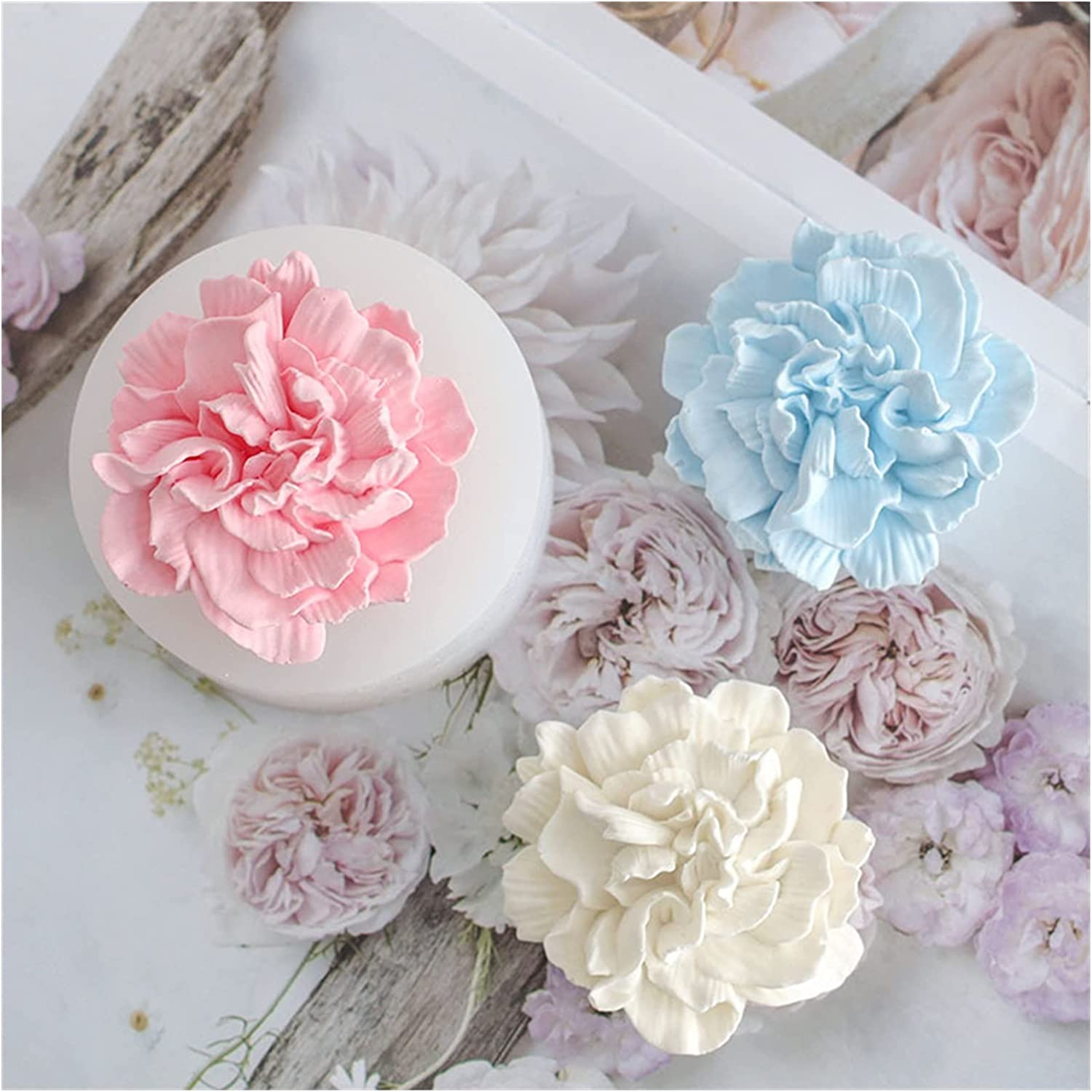 YSJJEFB Resin Molds Rose shipfree Spring new work Flower Silico soap Mold Making for