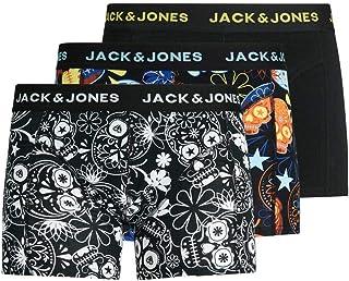 Jack & Jones Men's JACSUGAR SKULL TRUNKS 3 PACK. NOOS Trunks Underwear