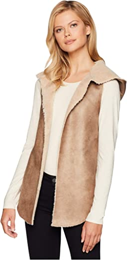 Soft Shearling Reversible Hood Vest