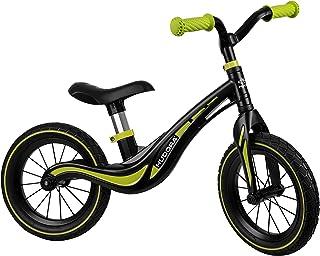 HUDORA 10372 Magnesium barnvagn Air, svart/grön | från 3 år | 12 tum med pneumatiska däck | För pojkar och flickor