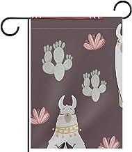 Tuinvlag, alpaca cactussen schattig, Seizoensgebonden Outdoor Vlaggen 28 x 40 Dubbelzijdige Home Yard Decoratieve