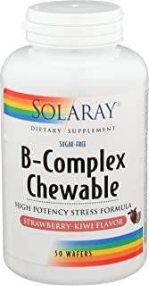 Solaray, High Potency B-Complex Chewable, Natural Strawberry Flavor, 50 Chewables