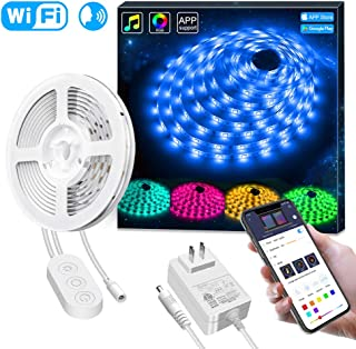 Smart LED Strip Lights Works with Alexa, Govee APP Control Waterproof 16.4ft RGB LED Light Strip WiFi Sync with Music, 16 Million Colors 5050 LED Lights for Home, Kitchen, TV, Party