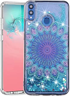 ISADENSER Huawei Honor 8X Cover Glitter 3D Fancy Luxury Design Wallet with Card Holder Cash Slots Kickstand Shockproof PU ...
