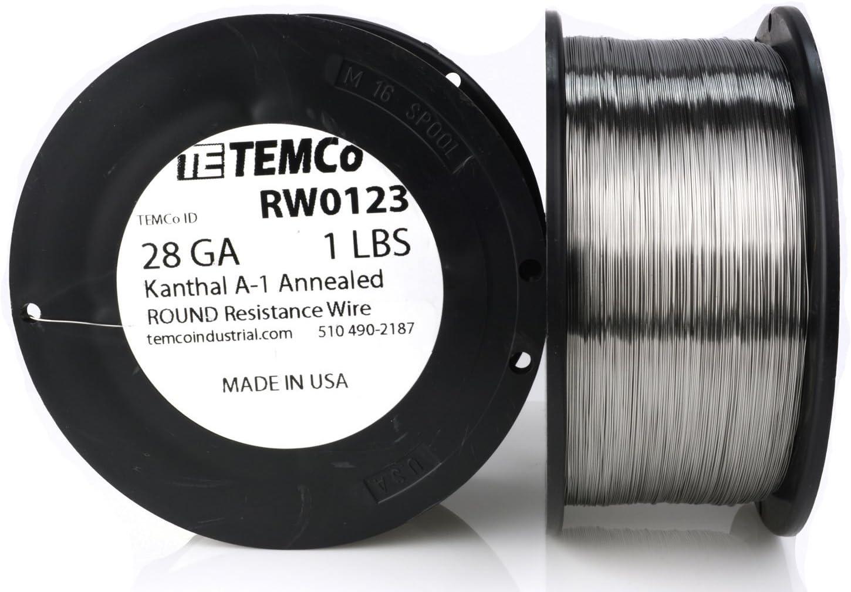 TEMCo Kanthal A1 wire 28 Gauge 1 AWG Resistance A-1 Outlet SALE ft 2609 lb Popular popular
