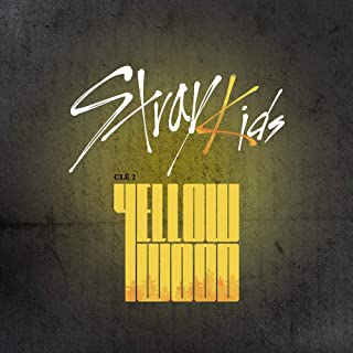 K-POP Stray Kids - Clé 2 : Yellow Wood, Random version, CD, Photobook, 3QR Photocards, Pre-Order Benefit, Folded Poster, E...