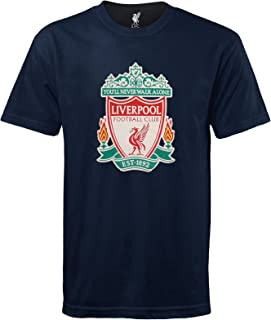 Liverpool Football Club Official Soccer Gift Kids Crest T-Shirt