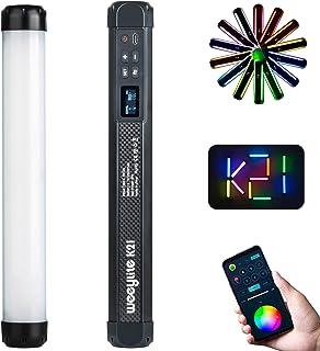 Weeylite K21 RGBスティックビデオライト ハンドヘルド LEDスティックライト 2500K-8500K無段階調光 29種類照明モード マグネット付き 内蔵充電式電池 製品撮影/Vlog 撮影/スタジオ撮影照明/YouTube/Ti...