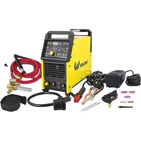 Weldpro Digital TIG 200GD ACDC 200 Amp Tig/Stick Welder with Pulse CK 17 Worldwide Superflex Torch 3 Year Warranty Dual Voltage 220V/110V welding machine
