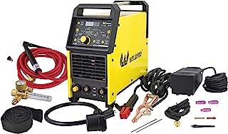 Weldpro Digital TIG 200GD ACDC 200 Amp Tig/Stick Welder with Pulse CK 17 Worldwide Superflex Torch 3 Year Warranty Dual Vo...