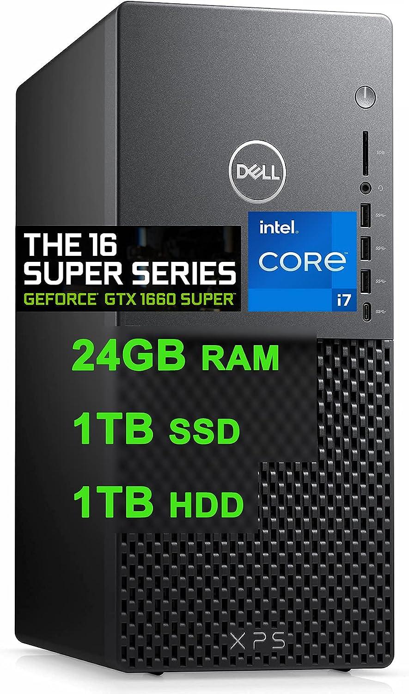 Dell Flagship XPS 8940 Gaming Desktop Computer 11th Gen Intel Octa-Core i7-11700 Processor 32GB RAM 512GB SSD + 1TB HDD Geforce GTX 1660 Super 6GB USB-C DisplayPort WIFI6 Win10