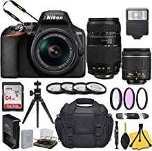 $499 » Nikon D3500 DSLR Camera with AF-P DX NIKKOR 18-55mm f/3.5-5.6G VR Lens + Tamron 70-300mm f/4-5.6 Di LD Macro Autofocus Lens for Nikon AF and Basic Travel Kit