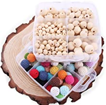 Promise Babe 2 Set DIY Nursing Teether Freedom Combination Package Mix Color Crochet Beads Nature Wooden Beads Nursing Necklace Bracelet Accessory Baby TeethingToy
