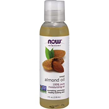 NOW Solutions, Sweet Almond Oil, 100% Pure Moisturizing Oil, Promotes Healthy-Looking Skin, Unscented Oil, 4-Ounce