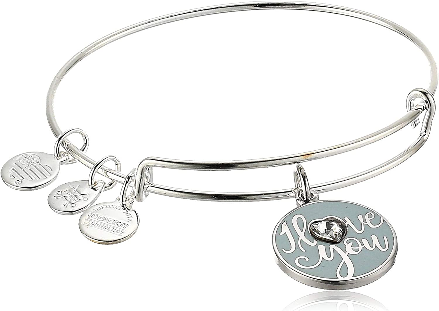 Alex and Ani Color Infusion I Love Popular brand OFFicial You A20EBILYSS SS EWB