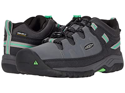 KEEN Kids Targhee Low WP (Little Kid/Big Kid) (Steel Grey/Irish Green) Boy