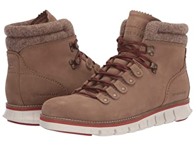 Cole Haan Zerogrand Hiker WP (Waterproof Transient Suede/Wool/Ivory/Potters Clay) Men