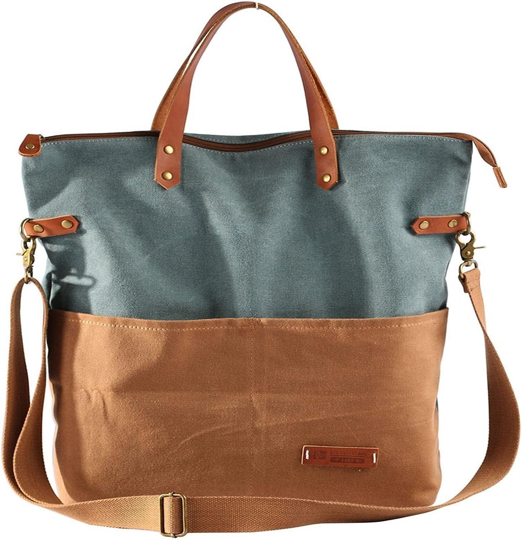 AFCITY Damen Damen Damen Handtasche Kosmetiktasche Lässige Retro große Kapazität Splicing Collision Bag Canvas Handtasche Shopper Tasche B07HG8X2Z5 1fb70e