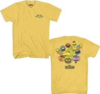 Sesame Street 1969 Heads Oscar Elmo Cookie Big Bird Bert Ernie Count Grover Classic Vintage Retro Mens Adult T-Shirt