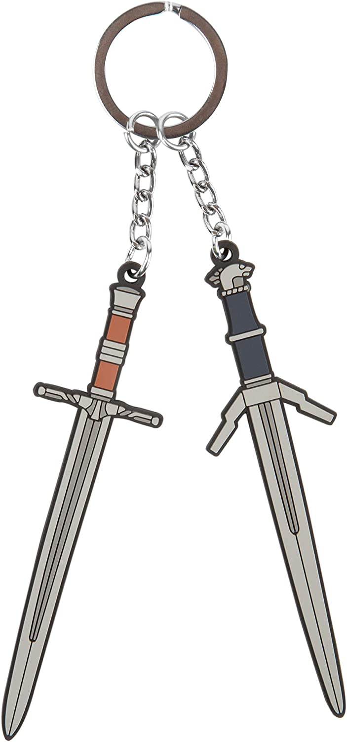 JINX The Witcher 3 Steel n' Silver Rubber Key Chain, Multi-Colored, 3