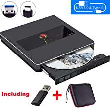 External DVD CD Drive NOLYTH USB C DVD CD Optical Drive Reader Player Burner Writer for Laptop/Mac/MacBook Air/Pro/Windows Made with Alumium Alloy Support DVD±RW/CD±RW