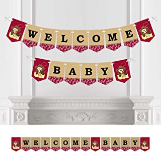 Big Dot of Happiness Little Cowboy - Baby Shower Bunting Banner - Western Party Decorations - Welcome Baby