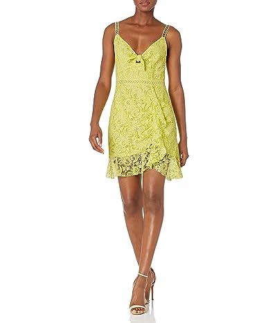 ASTR the Label Joey Sleeveless Lace Bow Tie Short Mini Dress
