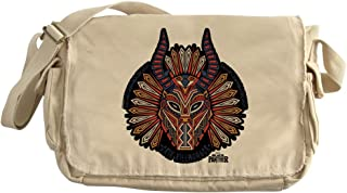 CafePress Black Panther Killmonger Unique Messenger Bag, Canvas Courier Bag