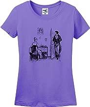 Jane Austen Pride and Prejudice Mr. Darcy Elizabeth Illustration Ladies T-Shirt (S-3X)