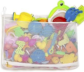 Tenrai Mesh Bath Toy Organizer, Bathtub Storage Bag, Multi-Purpose Baby Toys Net, Toddler Shower Caddy for Bathroom, Quick...