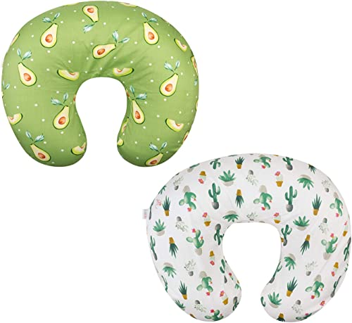 ALVABABY 2pack Pillow Cover Soft and Comfortable for Breastfeeding Moms Soft Fabric Fits Snug On Infant Nursing Pillo...