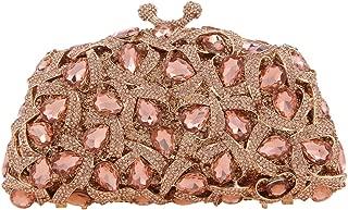 Fawziya Kiss Lock Crystal Evening Handbag Clutches Women